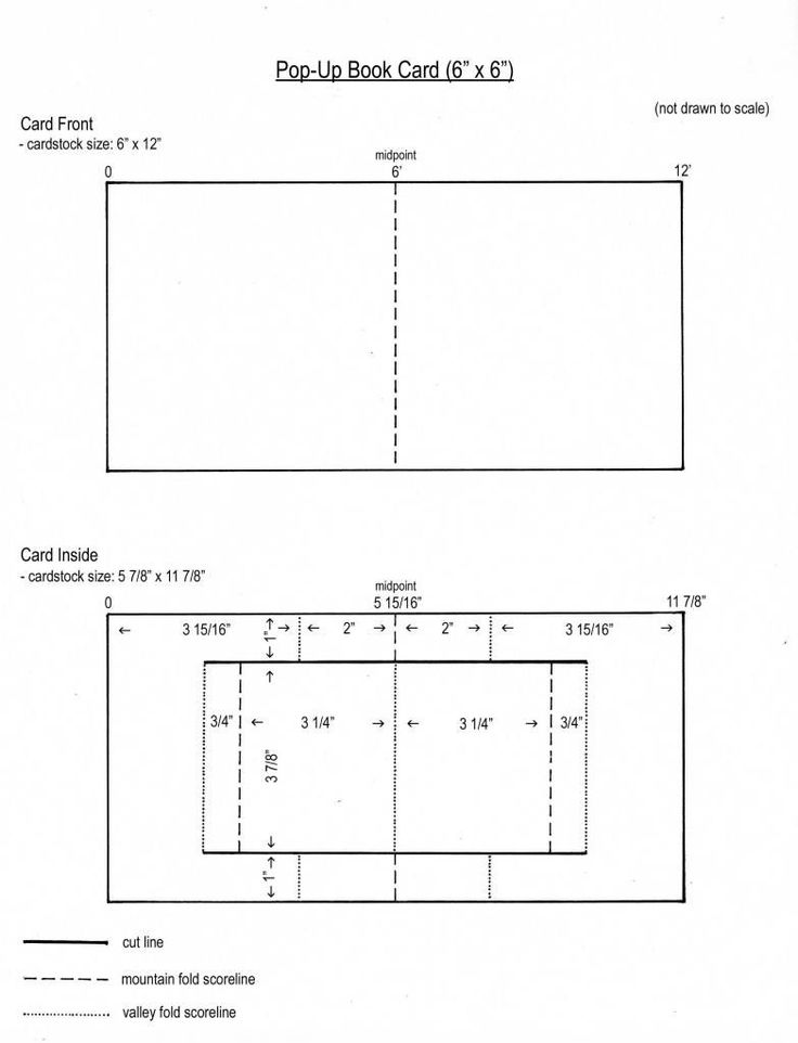 Room Design Layout Templates: Pop Up Book Card Template From My Craft Room