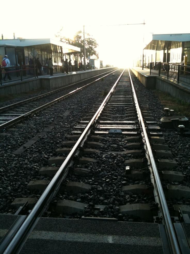 Morming at the train station