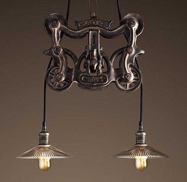 restoration hardware barn trolley light love it we are. Black Bedroom Furniture Sets. Home Design Ideas