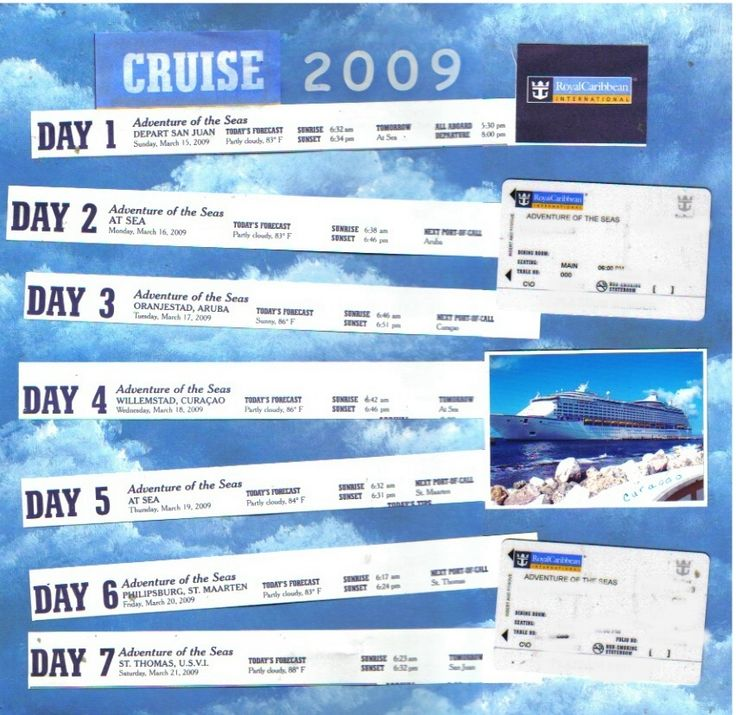 RCI Cruise  - What great use of the daily compass that the cruise line distributes!