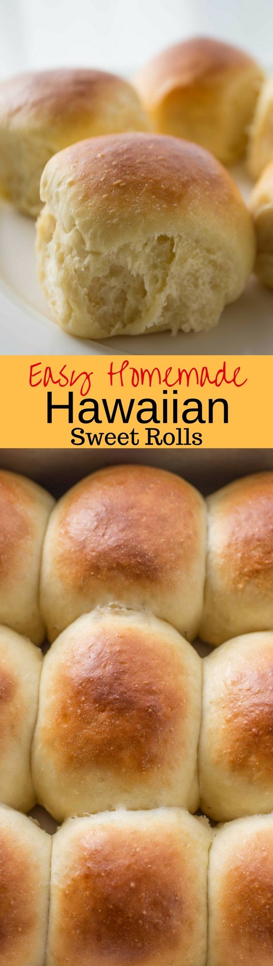 Easy Homemade Hawaiian Sweet Rolls -A lightly sweet roll flavored with pineapple juice for a hearty, fluffy, homemade treat that comes together in minutes. Terrific topped with ham, hot pepper jelly and your favorite cheese