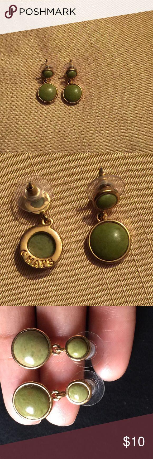 Kohl's Chaps Drop Gold /Olive Earrings Chaps Chaps Jewelry Earrings