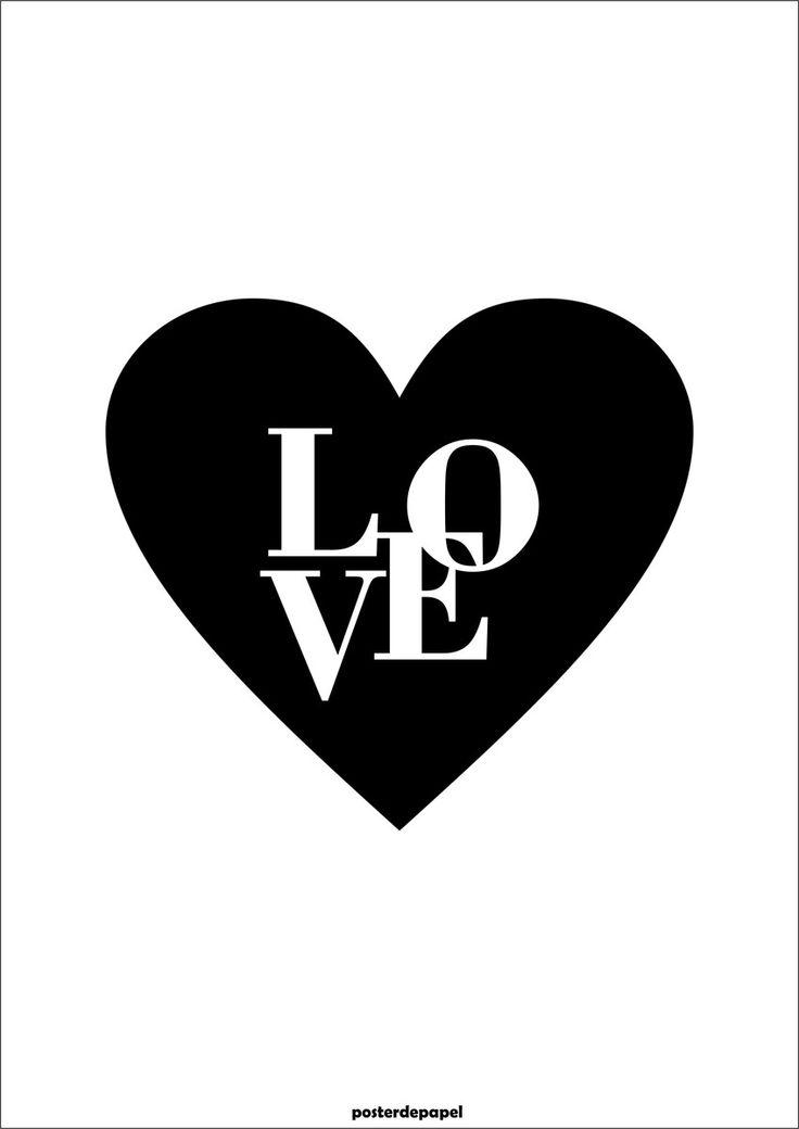LOVE | Poster de Papel | Elo7