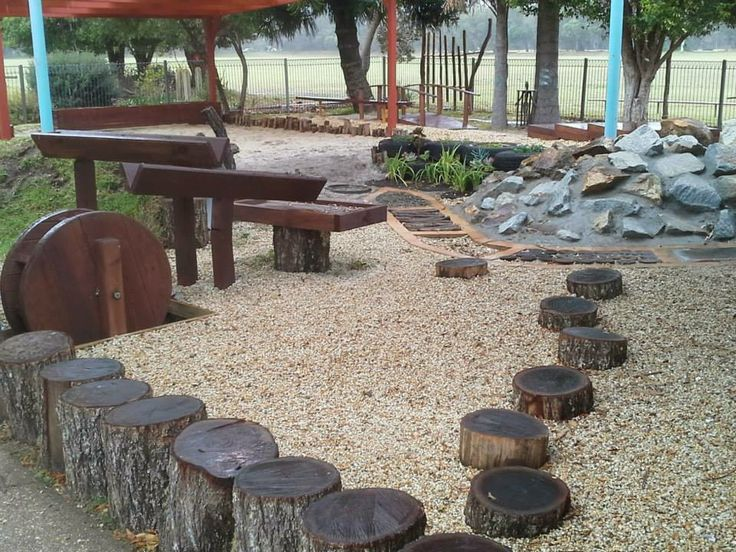 Sensory walk, water troughs, gravelled areas... so much to love!
