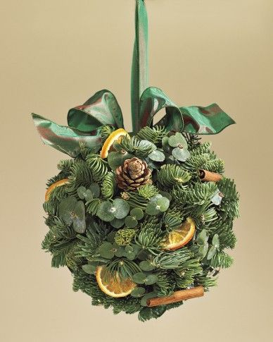 Evergreen Orange Kissing Ball - love this too, but we could call it something else.