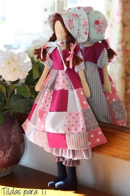 Craft to Inspire: Gorgeous Tildas.             Holly Hobbie type doll