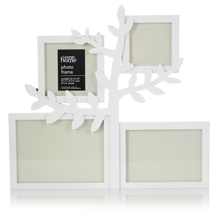 George Home White Tree Aperture Photo Frame | Frames & Albums | ASDA direct