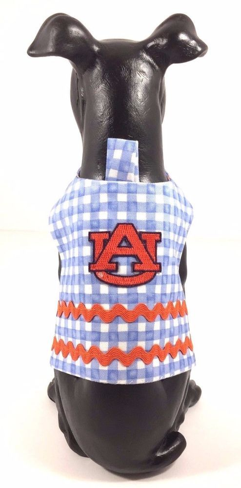 Dog Pet Clothes Harness SZ XSmall 3 to 5 LBS  NEW Handmade College Auburn Tigers #UnbrandedHandmade $14.00#UA Dog Clothes#Unixex ECU NWOT#Handmade Auburn Tigers