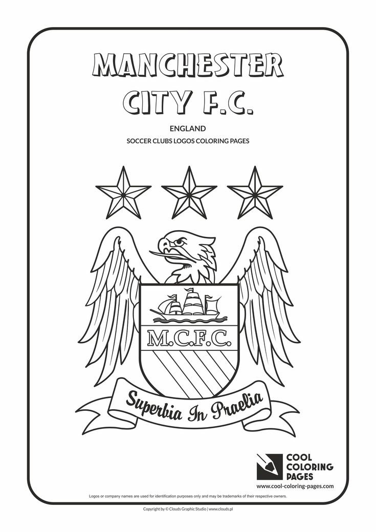 Cool Coloring Pages - Soccer Clubs Logos / Manchester City F.C. logo / Coloring page with Manchester City F.C. logo