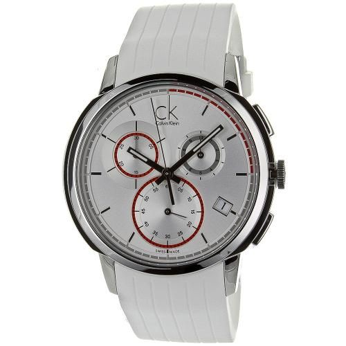 Stainless steel case, rubber strap, white dial, Swiss Quartz movement, synthetic sapphire. http://www.zocko.com/z/JJXCL