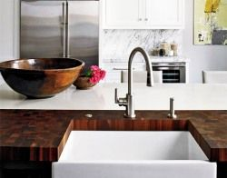 Solid wood kitchen countertops