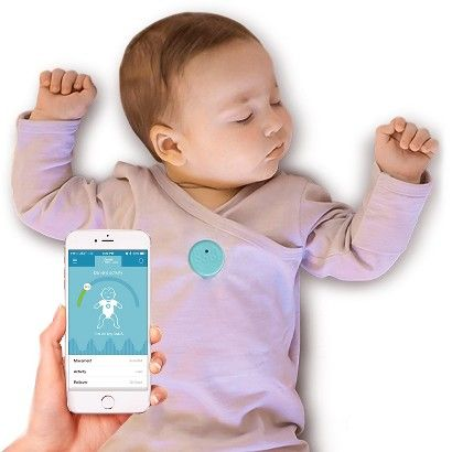 Monitor your baby proactively with MonBaby Breathing and Rollover Baby Monitor in a Smart Button!  MonBaby sends breathing and activity data to your smartphone 5 times per second. While most monitors require the parent to check an audio or video feed for updates, the MonBaby iOS and Android™ App proactively alerts you about stomach sleeping, stoppage in breathing movements, falls and unusual activity of your baby. The Smart Button snaps easily and securely on the baby's clothing and...