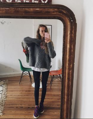 Awesome Marie von Behrens in her Closed alpaca knit