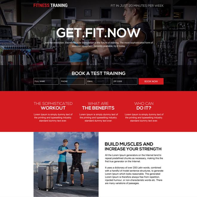 Download Responsive Fitness Training Programs Landing Page Design From Https Www Buylandingpagedesi Workout Training Programs Landing Page Design Page Design