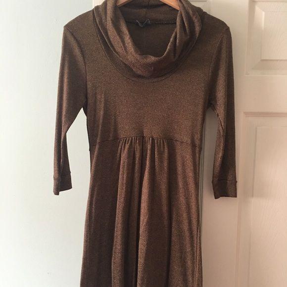Beautiful brown metallic maternity dress Great condition bronze metallic look , above the knee Michael Stars Dresses Midi