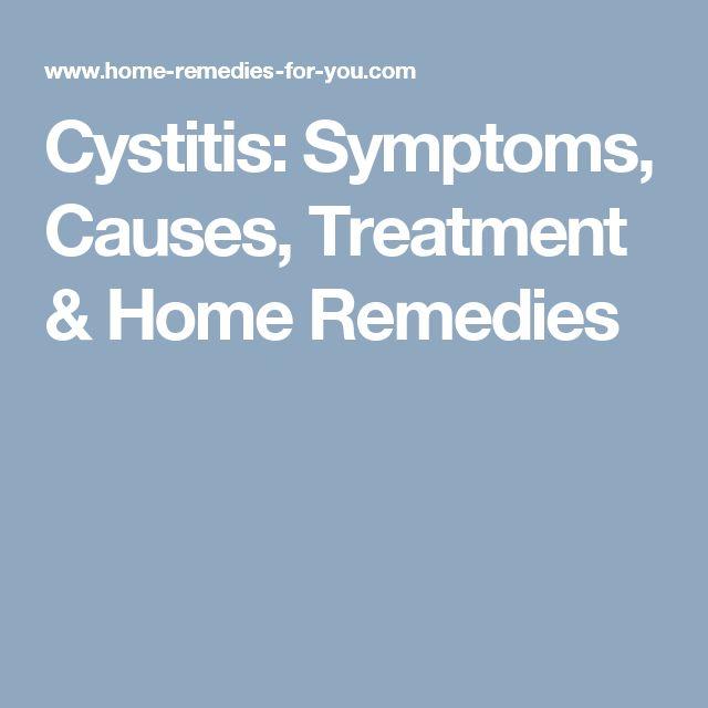 Cystitis: Symptoms, Causes, Treatment & Home Remedies