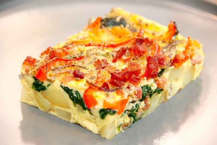 Frittata opskrift: Prøv denne lækre frittata, der er en italiensk æggekage, som laves med kartofler, spinat, bacon, peberfrugt, løg og æg. Du skal prøve denne dejlige frittata opskrift, der er virk…