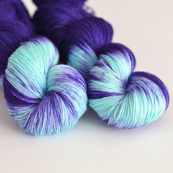 Hand Dyed Sock Fingering Yarn  Superwash British by ToilandTrouble, $29.00