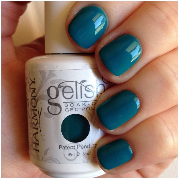 Garden Teal Party - Gelish. Love!