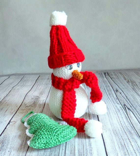 Christmas decorations: Snowman and Christmas tree amigurumi