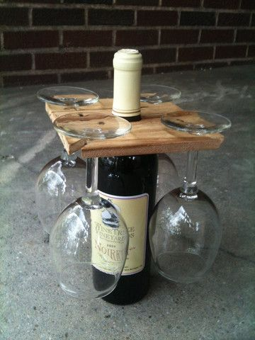 Party of Four Hardwood Wine Bottle Rack | Annie Housewife Home & Decor Store