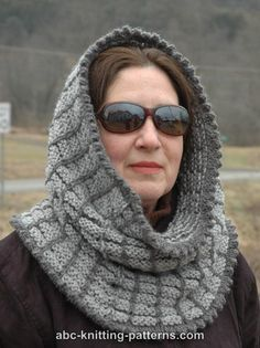 ABC Knitting Patterns - Two-Tone Snood  - comes with free directions