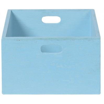 Tiroir bleu clair petit modèle Bleu Manguier : Jardin d'Ulysse, vente Tiroirs, étagères et patères Bleu Manguier
