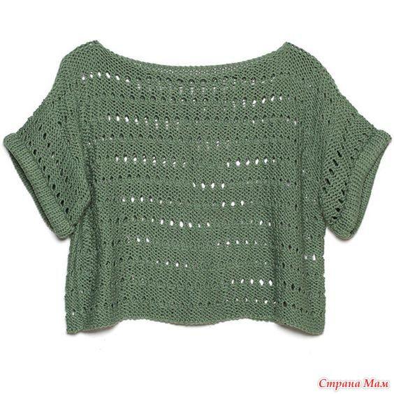 Всем добрый день! Рискну предложить вам, девочки, междусобойчик по вязанию короткого свитера DIANA, гуляющего сейчас в продаже в интернете, стоящего около 60 $.