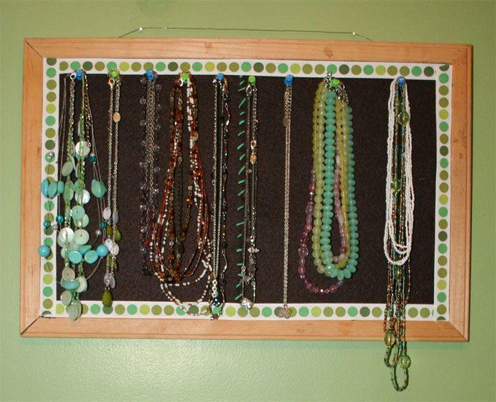 Best 25 homemade jewelry holder ideas on pinterest for Bulletin board organizer