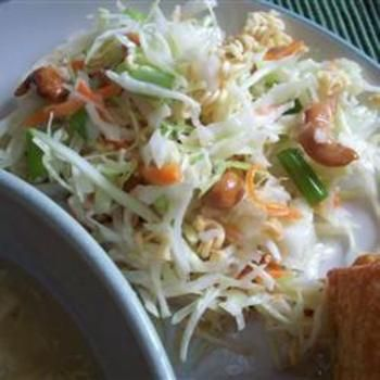 Chinese Cabbage Salad I: Chine Cabbages Recipes, Chinese Cabbage Salad, Salad Recipes, Yummy Food, Ramen Noodles, I'M, Chine Cabbages Salad, Chinese Cabbages Salad, Green Onions