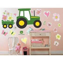 The girls idea  lol: Girls, Deer Pink, Pink Giant, John Deere, Wall Decals, John Deer Decals, Johndeer, Giant Wall, Deer Bedrooms