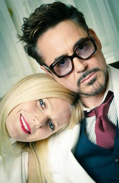 Gwyneth Paltrow and Robert Downey Jr. - or Pepper and Tony