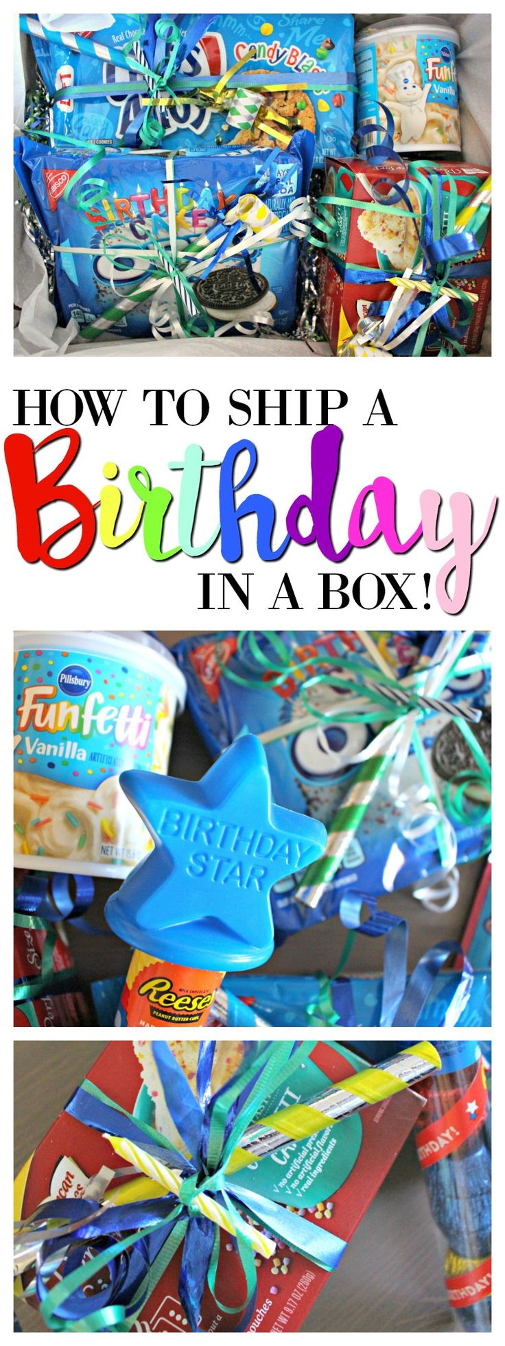 How to Send a Birthday in a Box! Perfect for a Long Distance Friend or College Care Package!