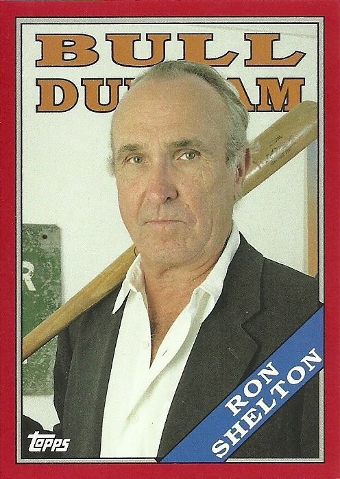 2016 TOPPS ARCHIVES BULL DURHAM RED RON SHELTON 6/50 FREE SHIPPING