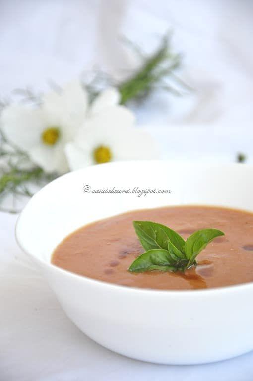 Supa de rosii coapte savuroasa aromata