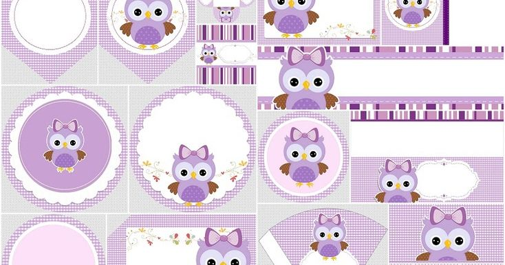 Free Printable Purple Owl Kit. | Oh My Quinceaneras! much more there!