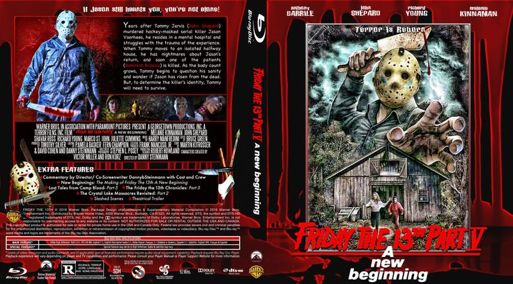 Friday The 13th Part 5-A New Beginning Blu-ray Custom Cover