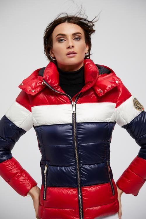cdf09c810 Megeve Down Puffer Coat (Tri-Colour) | Oh Those Beautiful Girls in ...