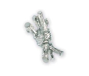 Michael Aram Bundled Twig Collection Silver-Tone Bundled Twig Cabinet Knob