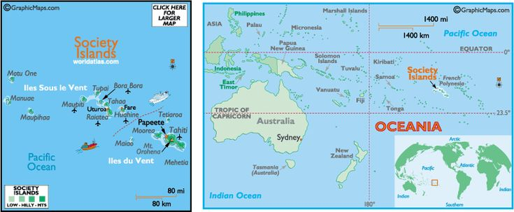 Society Islands Map and Information, Map of Society Islands, Facts, Figures and Geography of Society Islands -Worldatlas.com - WorldAtlas.com
