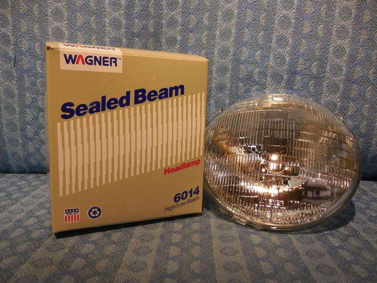 New Wagner Sealed Beam Headlight Bulb #6014 12 Volt GM Ford Chrysler AMC Mack #Wagner