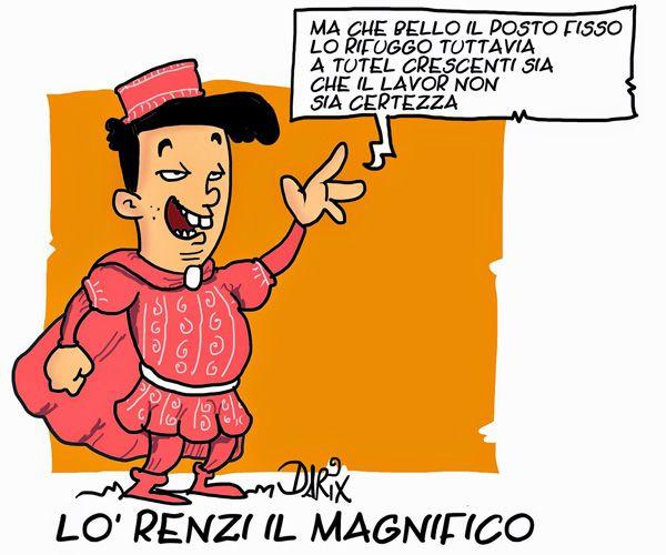 Lorenzo il Magnifico e Matteo  il rottamatore