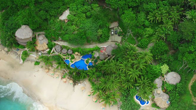 Secluded private beachfront hotel in Sayulita Nayarit, Mexico. Top rated Sayulita hotel in TripAdvisor. Perfect hideaway cove nested in Sayulita's lush jungle -close to nature yet comfortable with all amenities.