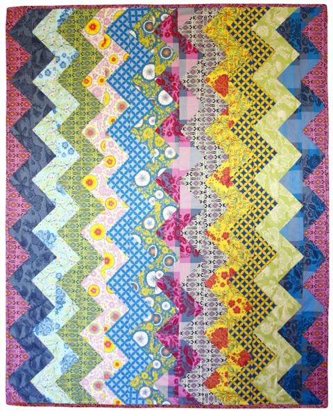 Zig Zag Love Quilt Pattern : New Zig-Zag Quilt Pattern From Anna Maria Horner