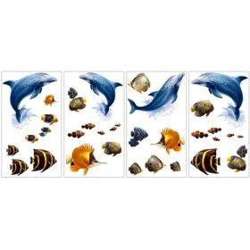 Ocean Muurstickers #muursticker #kinderkamer #dieren #kidzstijl #oceaan #vissen