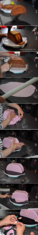 step by step cake bag