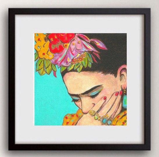 30% off Frida Kahlo impresión lona gratis envío mexicana arte