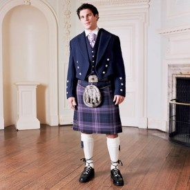 Gold Prince Charlie Outfit. Features our best items including a hand sewn 8 yard kilt in your tartan.  This is an extra special outfit and ideal for your wedding or a special gift. ~Rach (buyakilt.com)