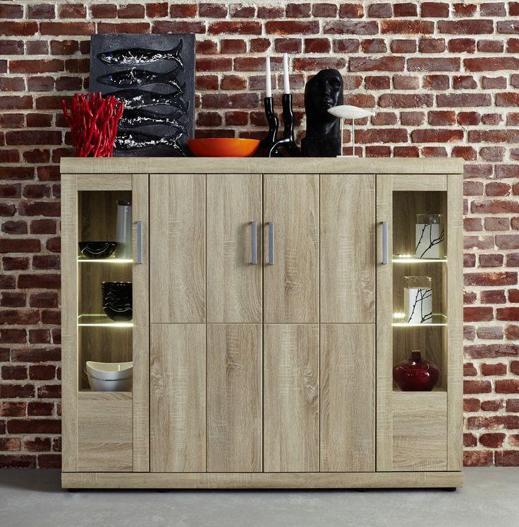 Pinterestu0027teki 25u0027den fazla en iyi Highboard eiche fikri - wohnzimmer eiche massiv modern
