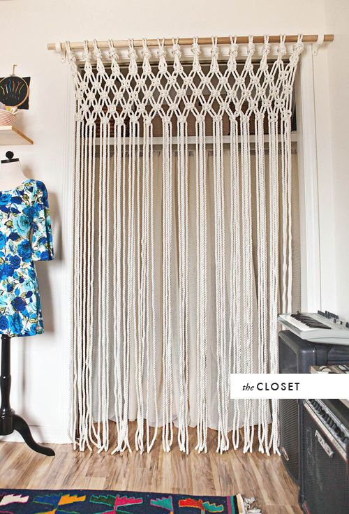 DIY room to room: Macrame - love. And needed to replace the door we took off!: